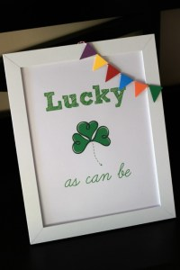 Free Lucky Printable on OurThriftyIdeas.com - perfect for decorating your house for St Patricks Day