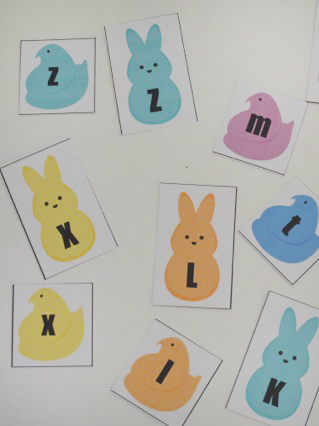 graphic relating to Matching Games for Toddlers Printable identify ABC Peeps Matching Printable for Infants - Our Thrifty Guidelines