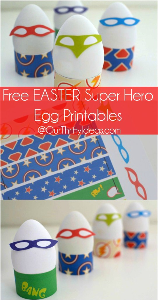 super hero egg printable