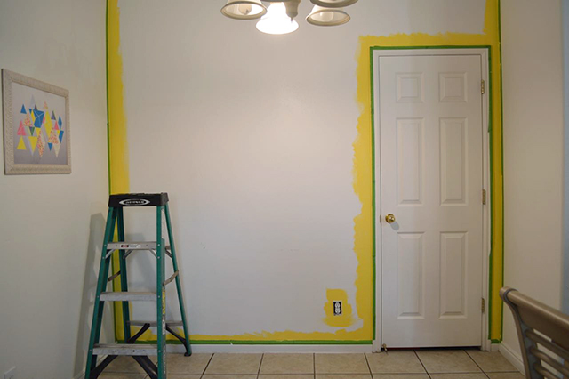 trimming out a room with Frog Tape