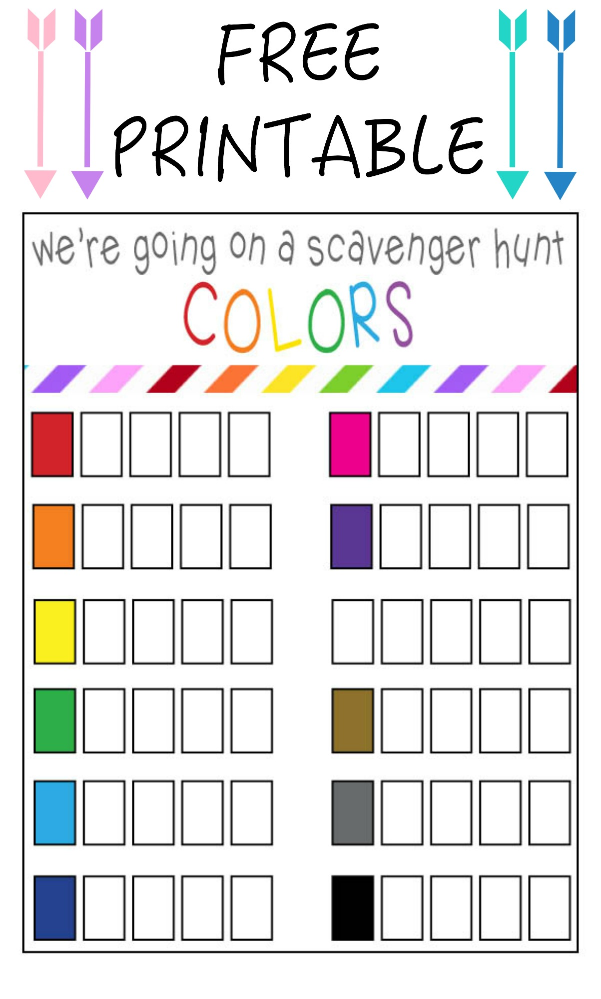 Color Scavenger Hunt