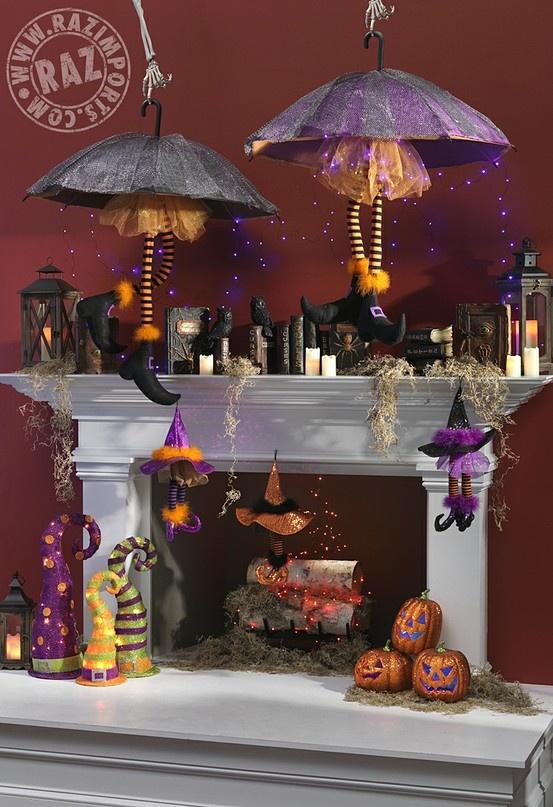 2013-raz-halloween-mantel