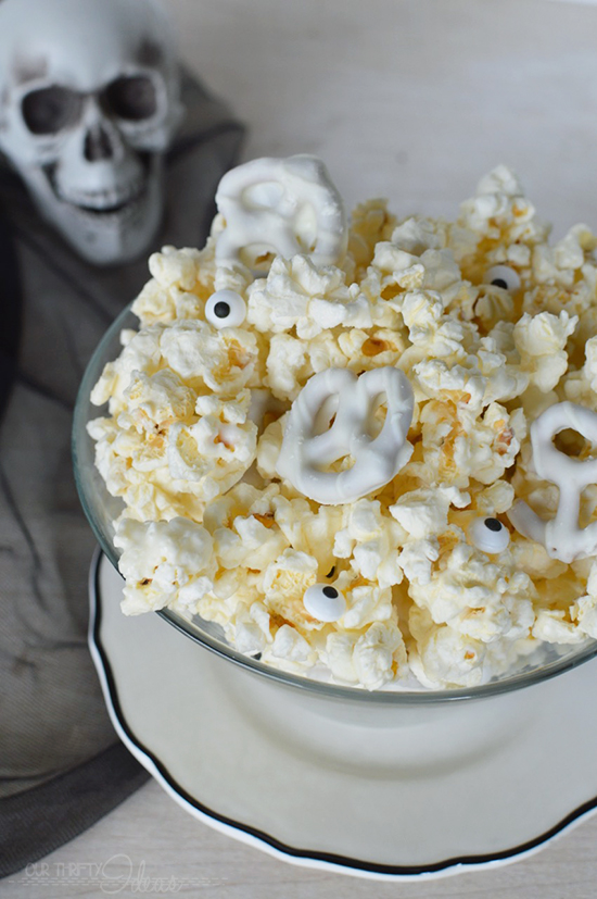Halloween White Chocolate Popcorn