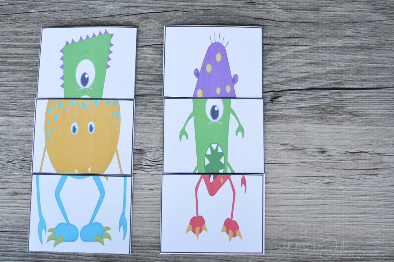 picture relating to Printable Go Fish Cards known as Restore a Monster Card Recreation - Totally free Printable - Our Thrifty Guidelines