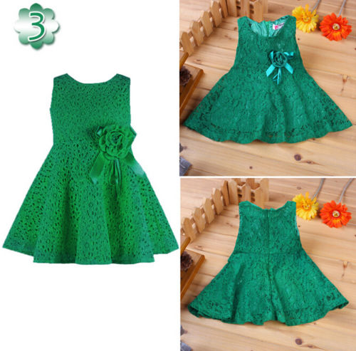 Green Lace Tulle Dress