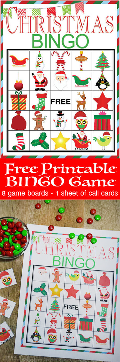 photo about Free Printable Christmas Bingo Cards named Xmas BINGO printable activity - Our Thrifty Recommendations