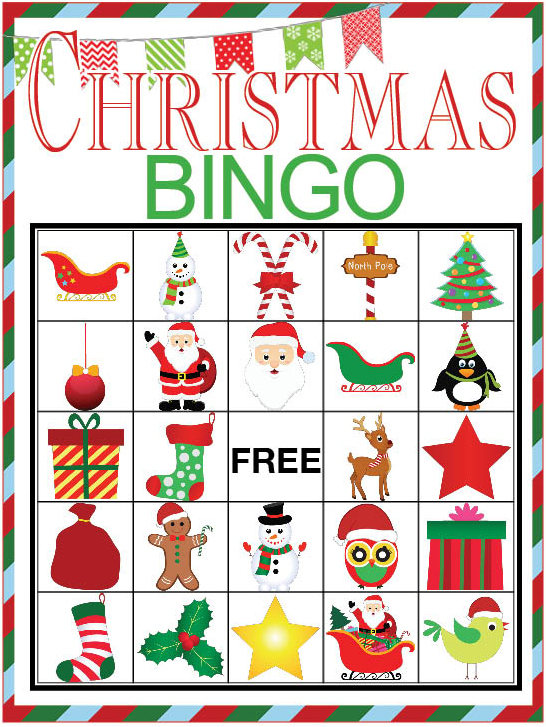 image relating to Christmas Bingo Card Printable referred to as Xmas BINGO printable match - Our Thrifty Recommendations