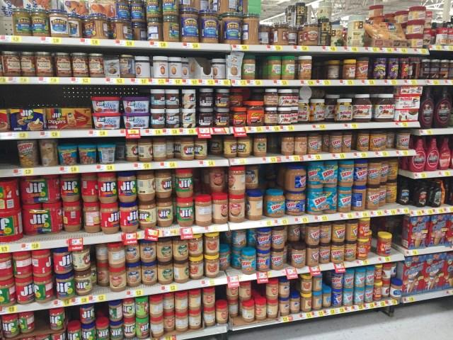Peter Pan Simply Ground peanut butter at Walmart
