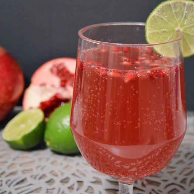 Sparkling Pomegranate Limeade Punch
