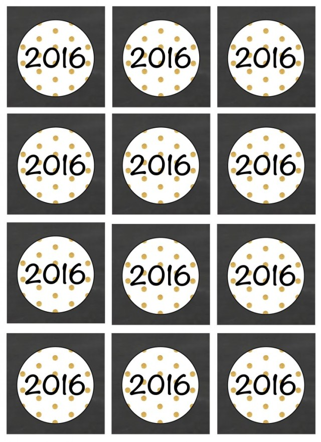 2016 New Years Printable Party Pack3