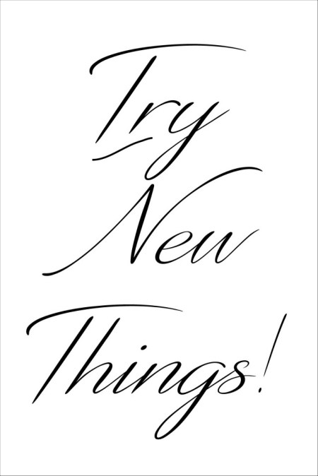 Try new Things printable