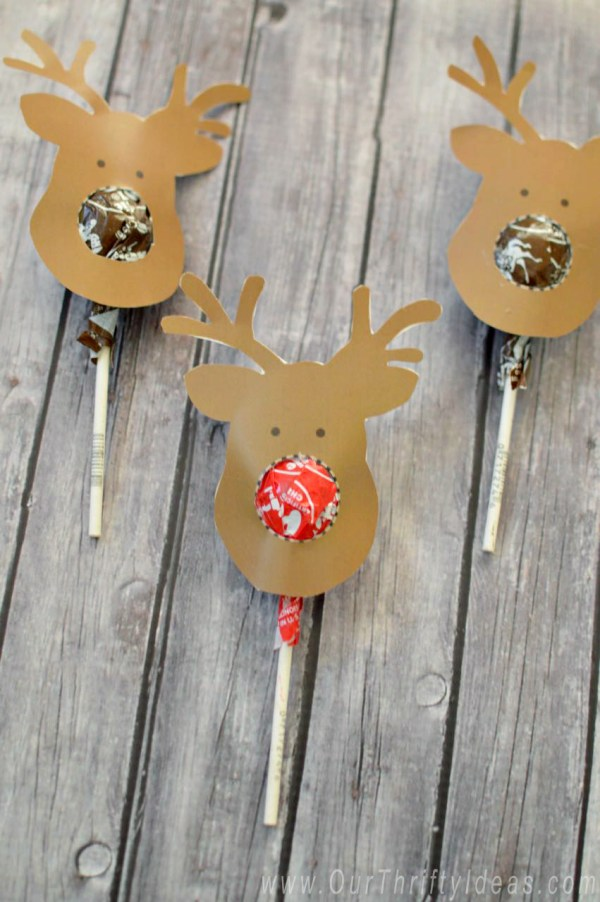 Reindeer Suckers Free Printable Kids Gift Our Thrifty