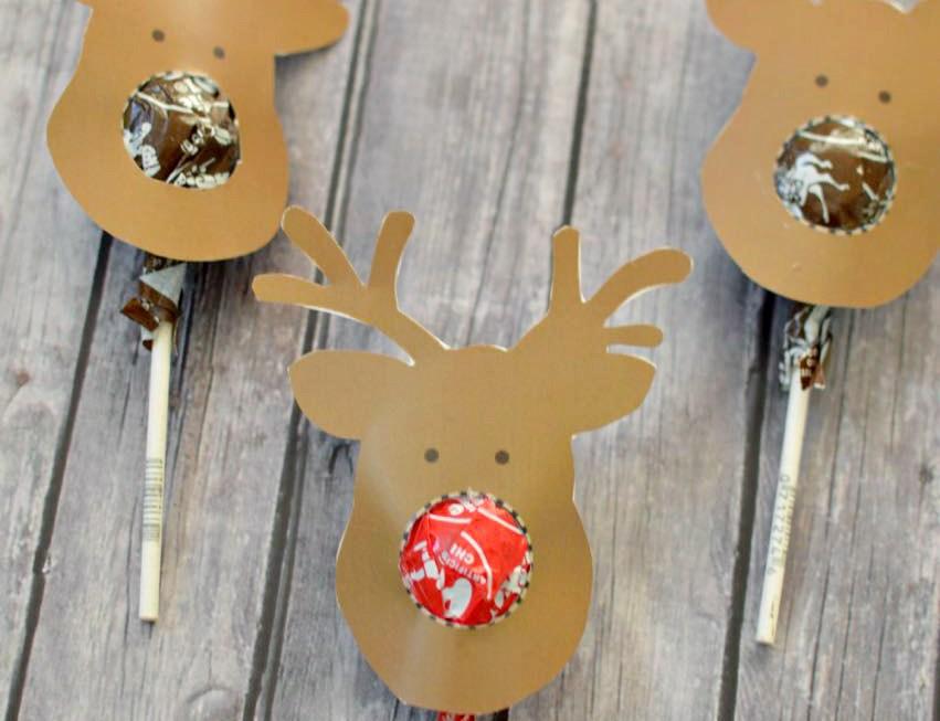 Reindeer Suckers Free Printable – Kids Gift