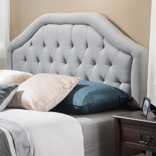 Button Diamond Tufted Upholstered Suede Iron Frame