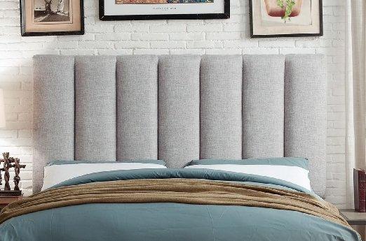 Upholstered Grey Headboard