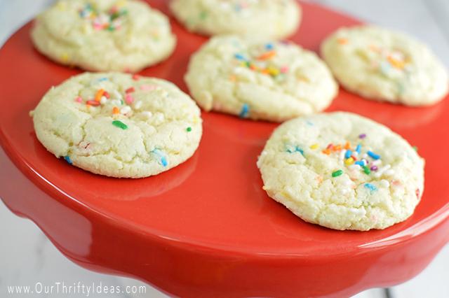 Funfetti Almond Cookies