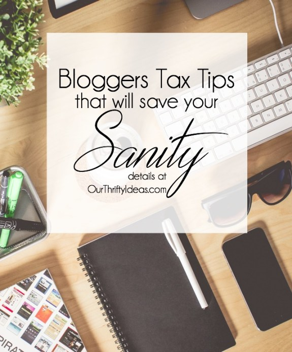 Bloggers Tax Tips that will save your sanity