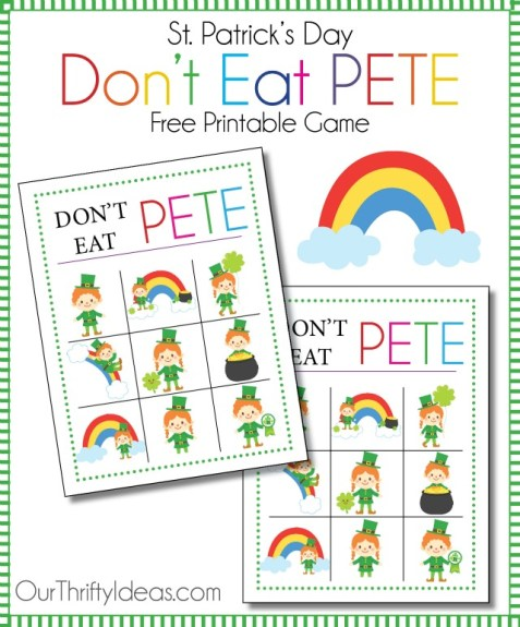 Don't Eat Pete St. Patrick's Day Edition. From www.overthebigmoon.com!