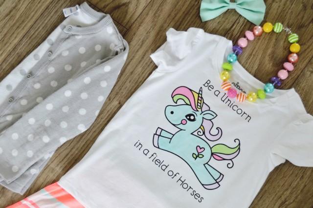 DIY Watercolored T-shirt Tutorial plus how you can make the custom Unicorn design