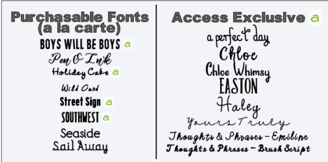 new circut fonts available in design space