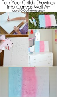 Turn Your Child's Drawings into Canvas Wall Art - Our ...