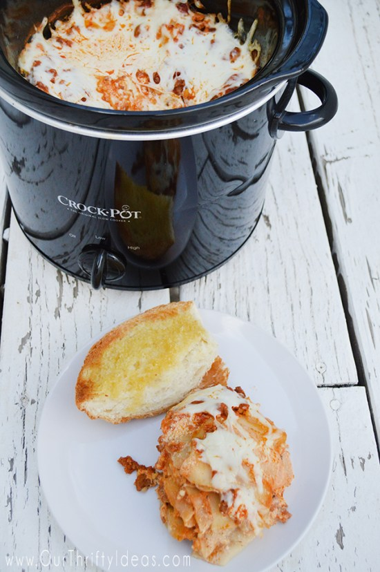 Cooking lasagna in the crockpot is EASY and barely any prep time meaning you CAN have a hot dinner tonight!