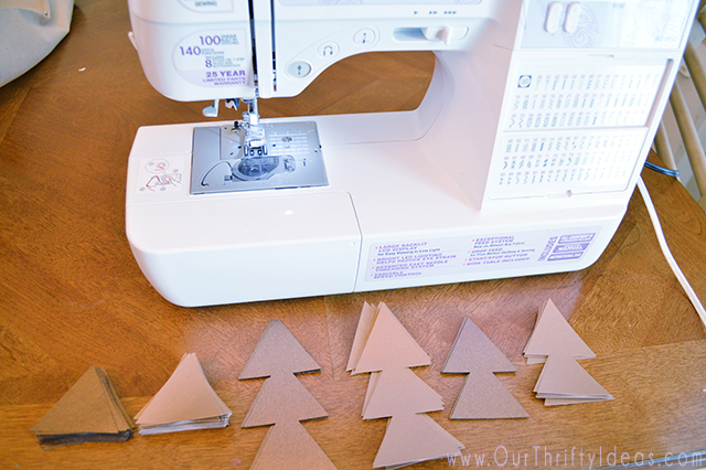 Easy DIY paper triangle garland