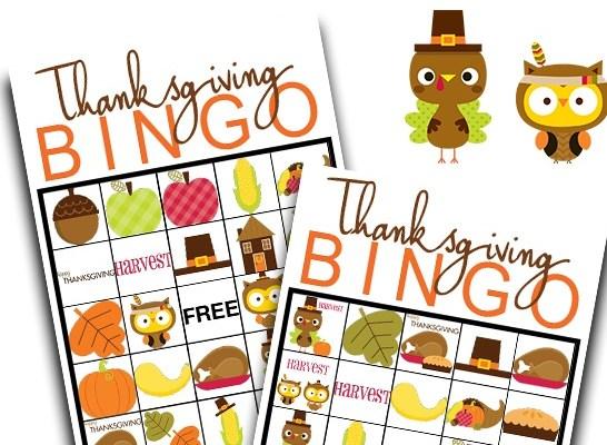 Thanksgiving BINGO free Printable Game