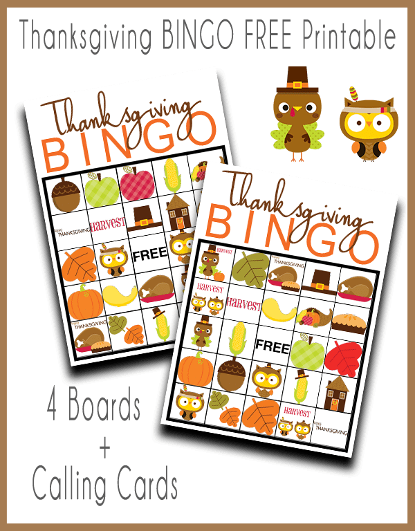 photo relating to Free Printable Thanksgiving Bingo Cards named Thanksgiving BINGO absolutely free Printable Sport - Our Thrifty Suggestions