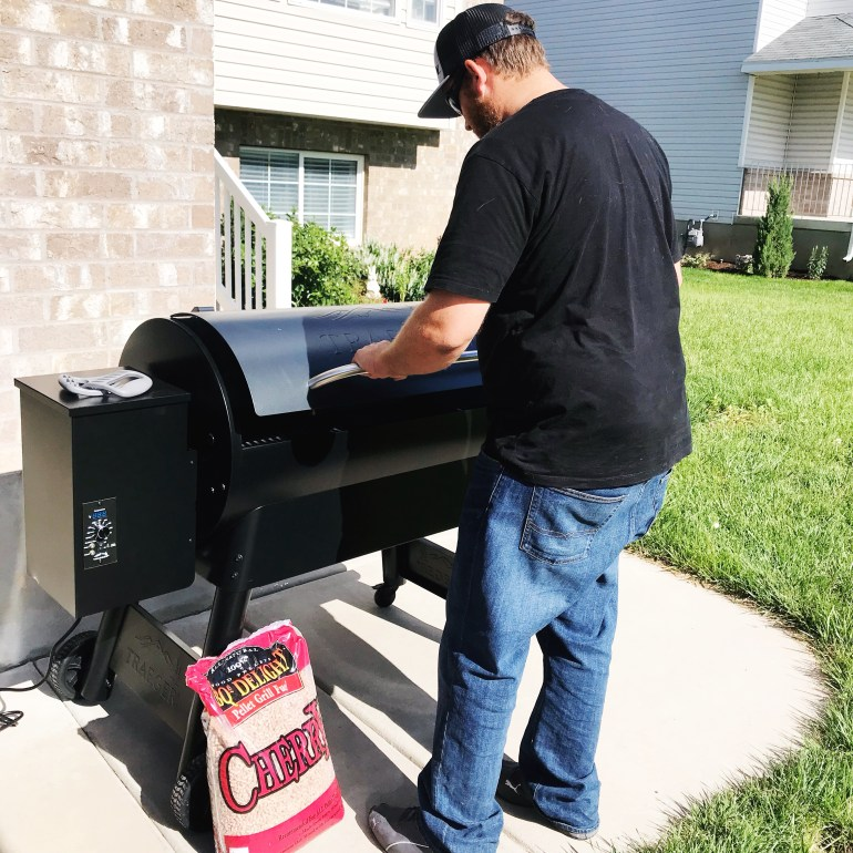 Smoking meat on the traeger