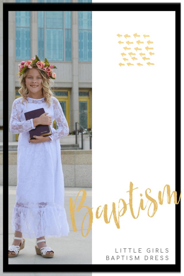LDS baptism dress