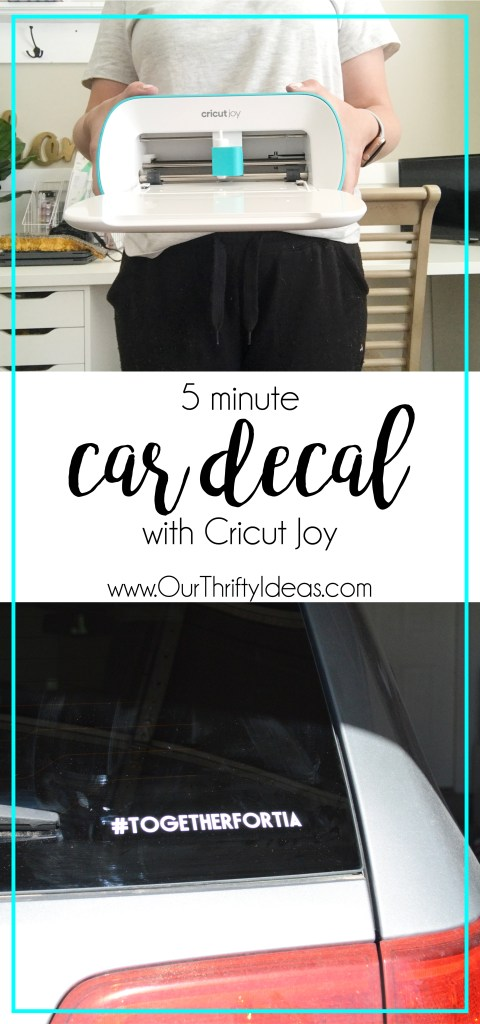 Create a car decal with Cricut Joy