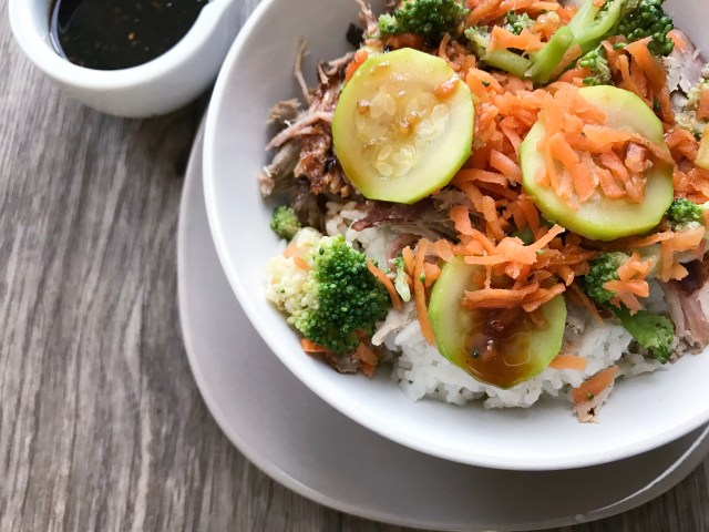 Homemade teriyaki rice bowls
