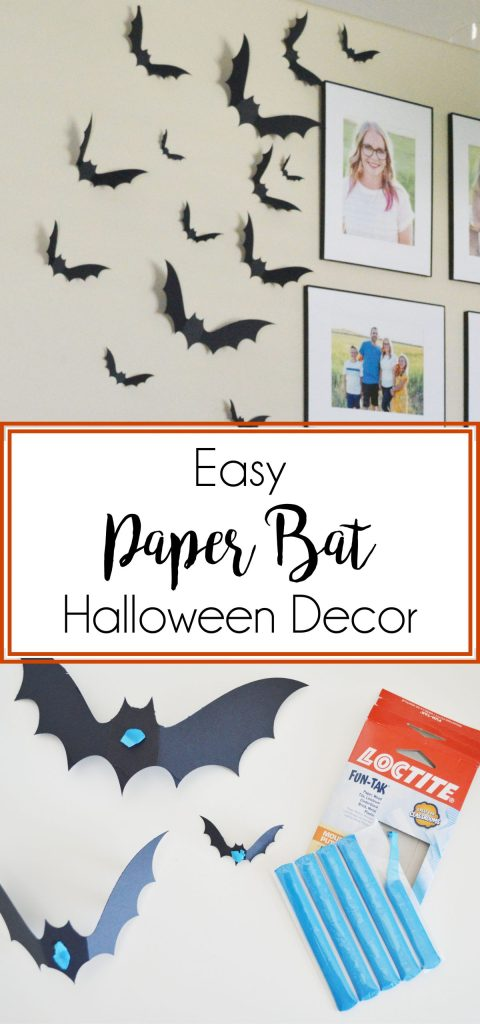 DIY Paper Bats Halloween Decor