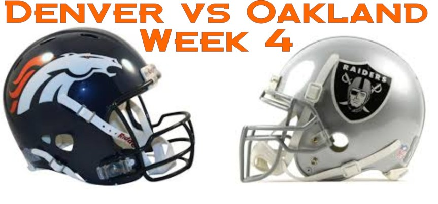 Denver Broncos vs Oakland Raiders