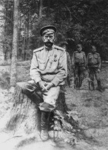 Неизвестный автор Император Николай II в Александровском парке после отречения от престола.