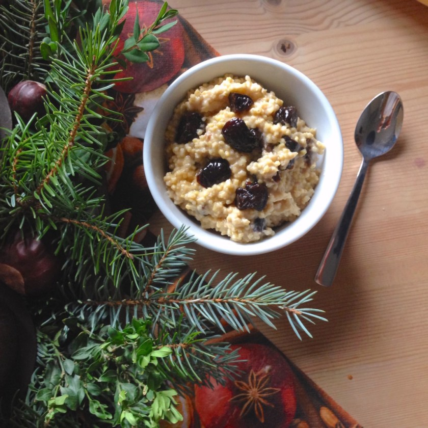 Millet Prune Breakfast Porridge