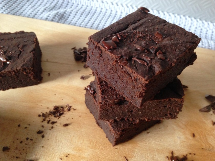 Healthy Vegan Protein Brownies