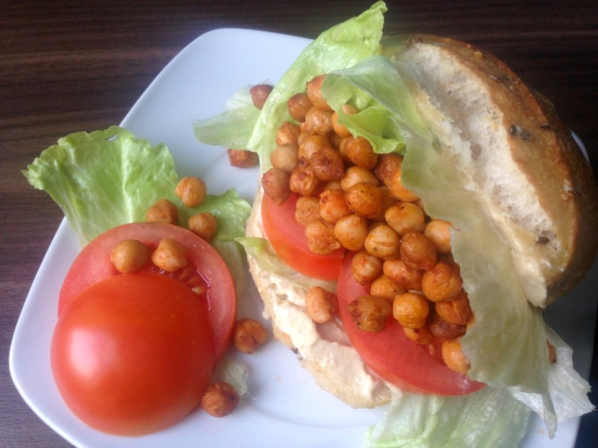 Vegan Roasted Chickpea Sandwich
