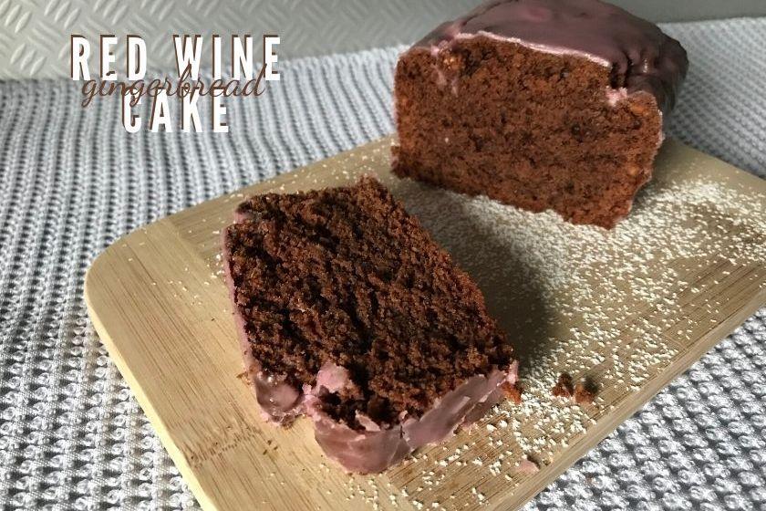 Vegan Gingerbread Red Wine Cake