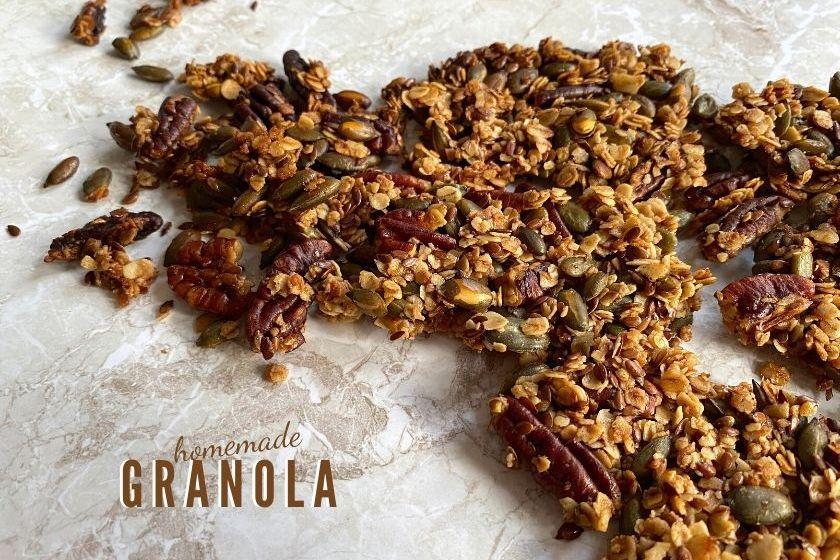 Vegan homemade granola