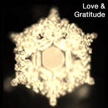 love & gratitude water crystal