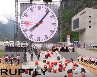 gotthard tunnel clock