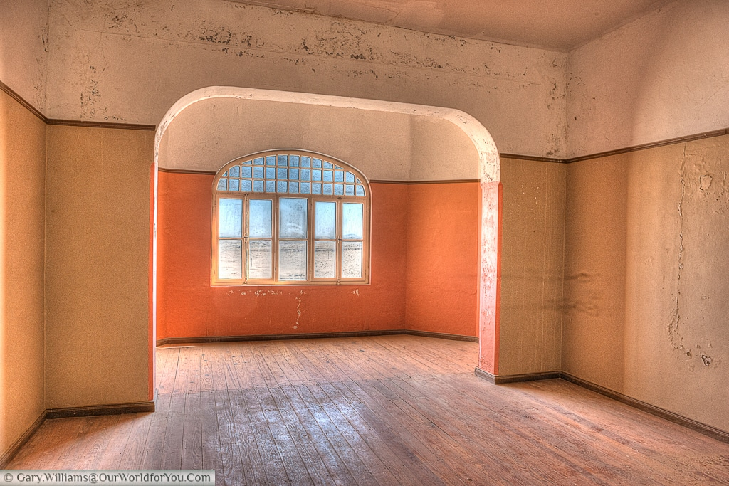 A grand room with a view, Kolmanskop, Namibia