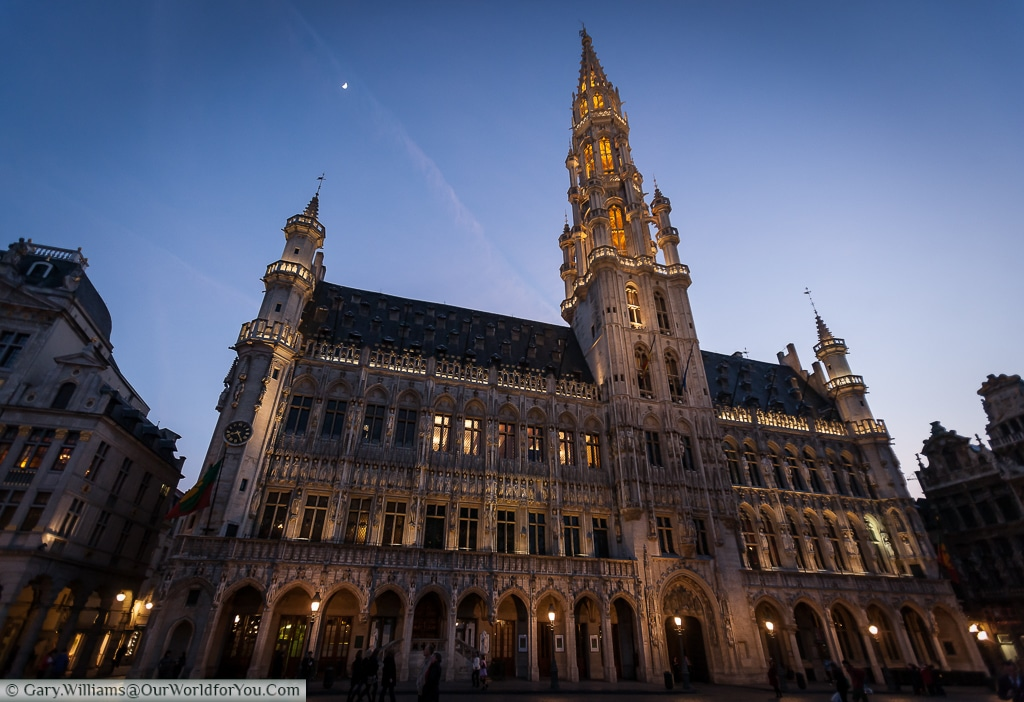 Brussels townhall, another imposing neo-gothic structure in the Grand Place.