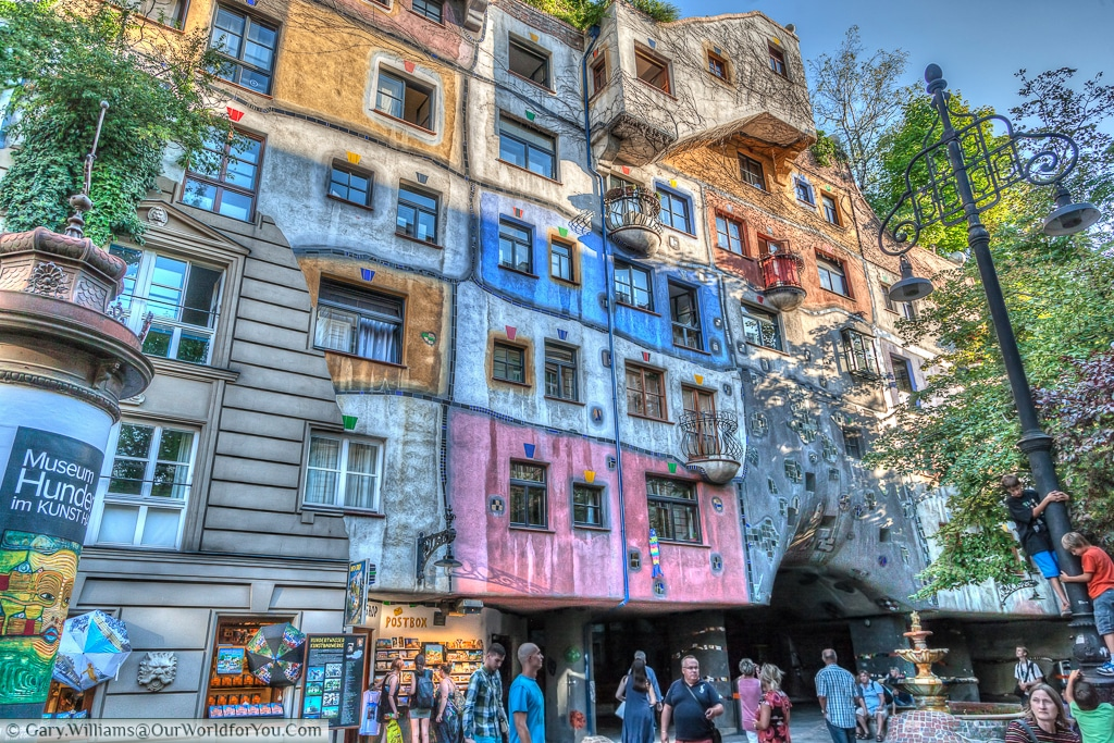 Hundertwasserhaus -A break from the norm. Something rather quirky in Vienna, Austria