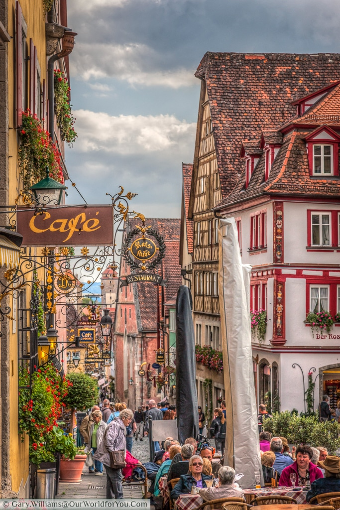 Obere Schmiedgasse, Rothenburg ob der Tauber, Bavaria, Germany