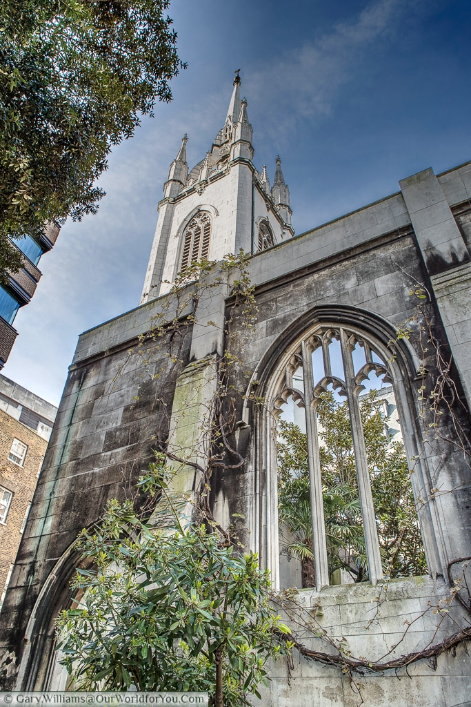 St Dunstans in the East, City of London, UK