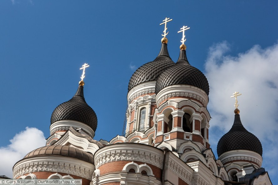 The stunning domed roof of St. Alexander Nevsky Russian Orthodox Cathedral. Tallinn.