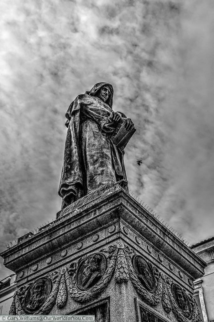 Statue of Giordano Bruno, Rome, Italy